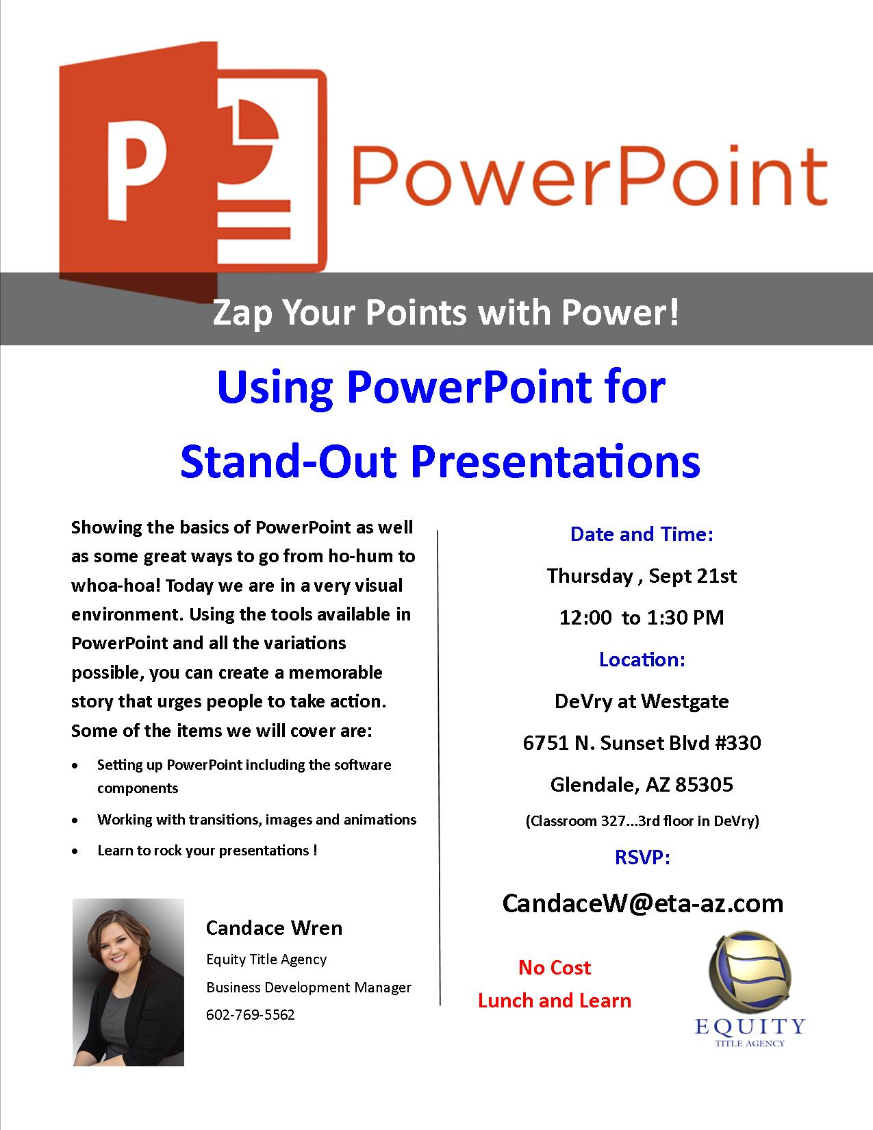 Powerpoint Presentations that Stand Out!