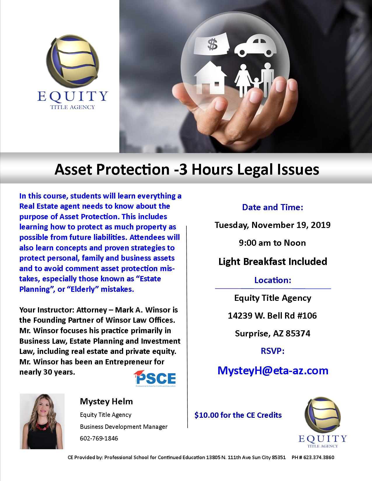Asset Protection- 3 Hours legal issues CE